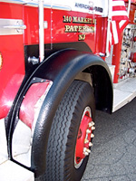 dental fire truck wheel protected by Abuseproof™
